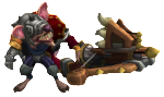 Medieval twitch skin for League of Legends ingame picture
