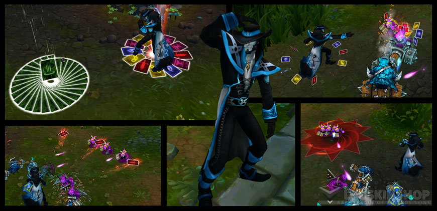 Pax Twisted Fate skin ingame looks