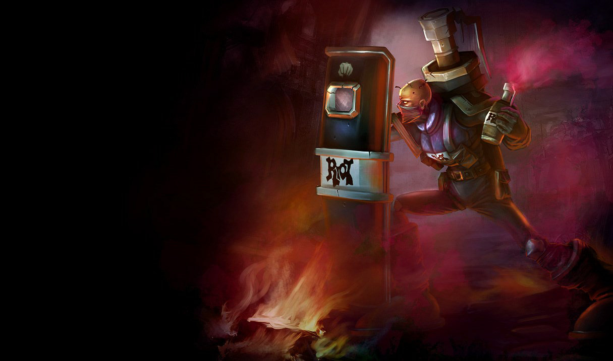 splash art riot singed