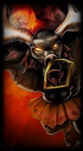 Black Alistar skin for League of Legends ingame picture splash art