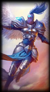 Silver Kayle skin for League of Legends ingame picture splash art