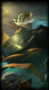 fnatic corki skin for league of legends ingame picture splash art