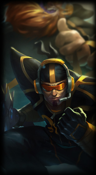 fnatic Jarvan skin for league of legends ingame picture splash art
