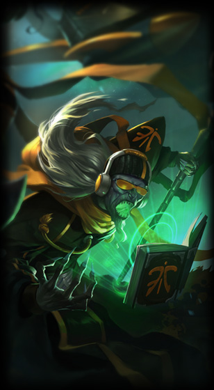 fnatic karthus skin for league of legends ingame picture splash art