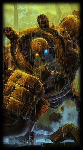 Rusty Blitzcrank skin for league of legends ingame picture splash art