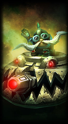 Ufo Corki skin for league of legends ingame picture splash art