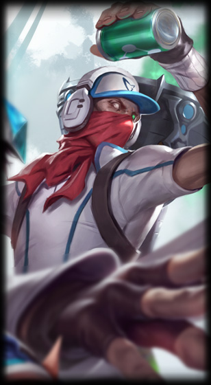 SSW Singed skin for League of Legends ingame picture splash art Samsung Galaxy White