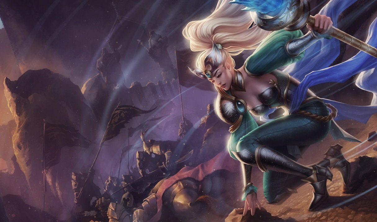 splash art for victorious janna league of legends skin