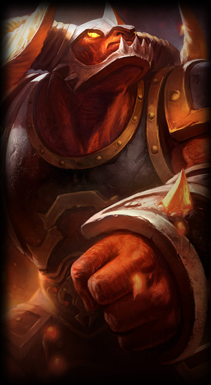 Infernal Alistar skin for league of legends ingame picture splash art