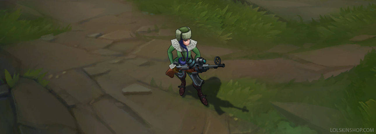 Arctic Warfare Caitlyn skin for league of legends ingame picture