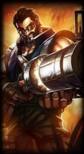 Hired Gun Graves skin for League of Legends ingame picture splash art