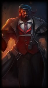 Mafia Graves skin for League of Legends ingame picture splash art