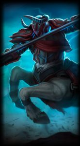 Blood Knight Hecarim skin for League of Legends ingame picture splash art
