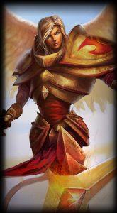 Unmasked Kayle skin for League of Legends ingame picture splash art
