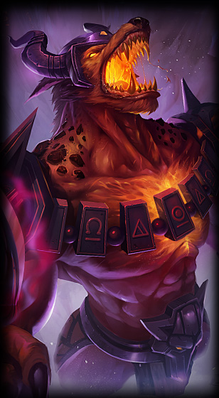 Infernal Nasus skin for League of Legends ingame picture splash art