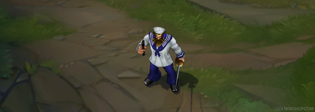 Sailor Gangplank - LoL Skin Spotlight - League of Legends skin