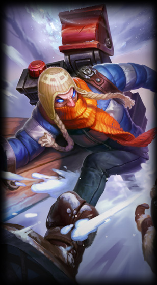 Snow Day Singed skin for League of Legends ingame picture splash art