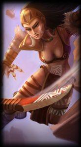 Huntress Sivir skin for League of Legends ingame skin splash art