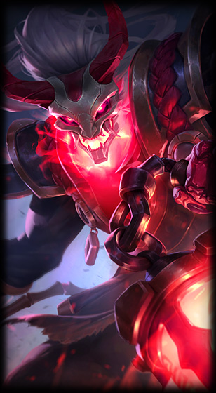 Blood Moon Thresh skin for League of legends ingame picture splash art