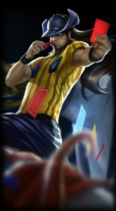 Red Card Twisted Fate skin for League of Legends ingame picture splash art