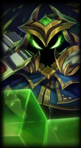 Final Boss Veigar skin for league of legends ingame picture splash art