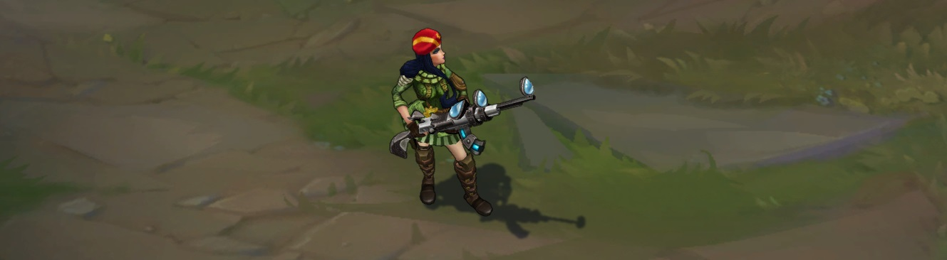 Resistance Caitlyn skin for League of Legends ingame picture splash art