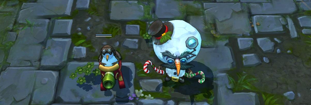 Snowmerdinger skin for League of legends ingame splash art