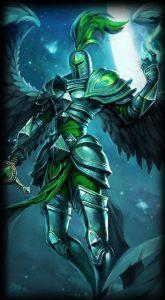 Viridian Kayle skin for League of Legends ingame picture splash art