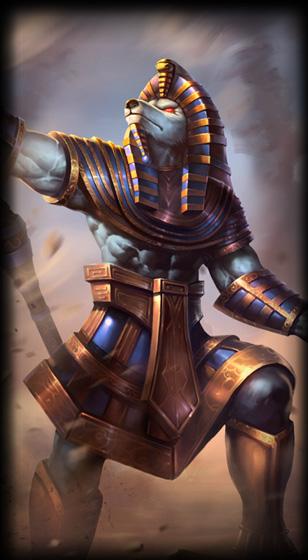 Pharaoh Nasus skin for League of Legends ingame picture splash art