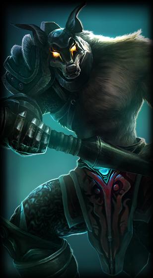 Dreadknight Nasus skin for League of Legends ingame picture splash art