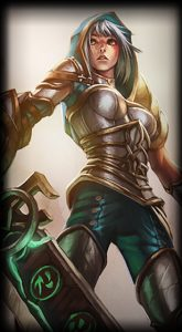 Reedemed Riven skin for League of Legends ingame picture splash art