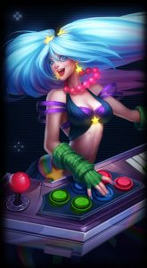 Arcade Sona skin for League of Legends ingame picture splash art