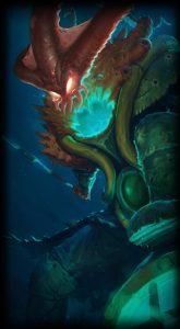 Deep Terror Thresh skin for League of Legends ingame picture splash art