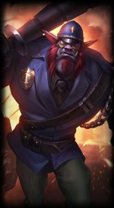 Constable Trundle skin for League of Legends ingame picture splash art