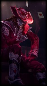 Jack of Hearts Twisted Fate skin for League of Legends ingame picture splash art model lol skin