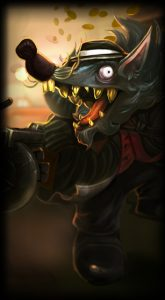 Gangster Twitch skin for League of Legends ingame picture splash art