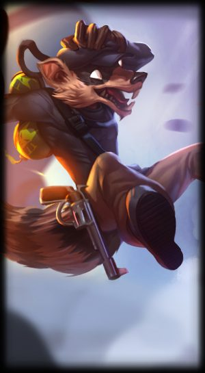 Pickpocket Twitch skin for League of Legends ingame picture splash art