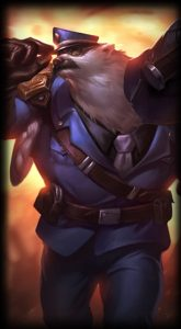 Captain Volibear skin for League of Legends ingame picture splash art