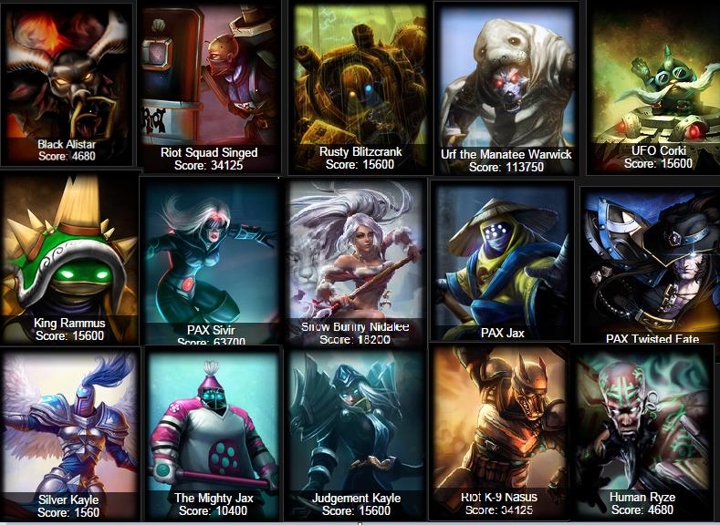 League Of Legends Rarest Skins