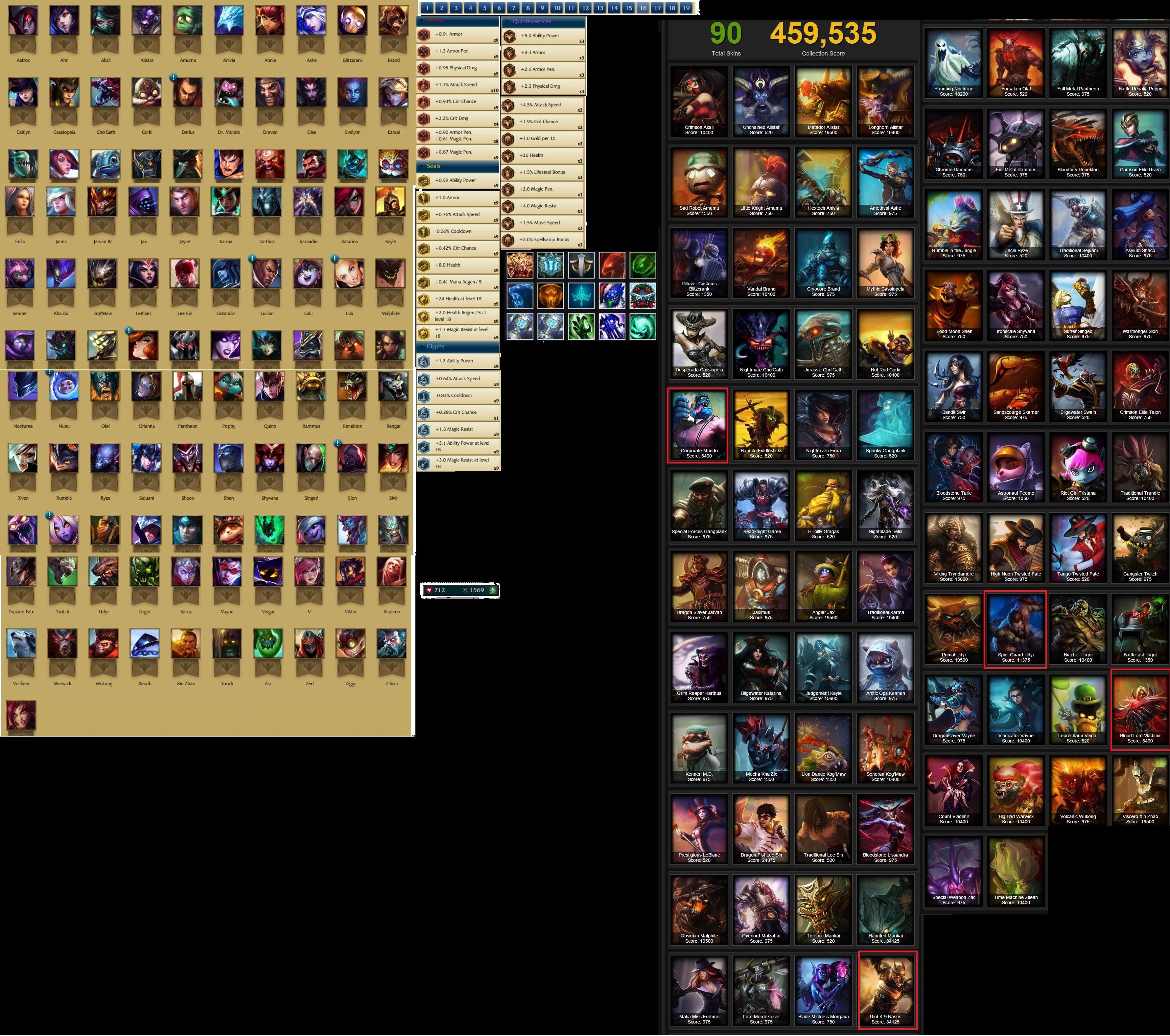all legacy skins
