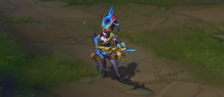 lunar wraith caitlyn skin for league of legends ingame picture