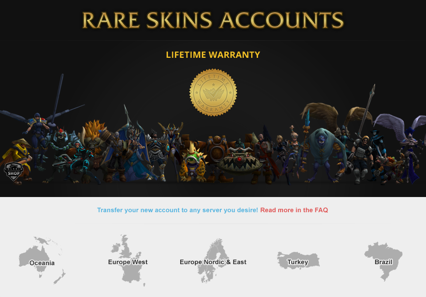 rare skin lol accounts, rare lol account, lol account skin, lol smurf skin,