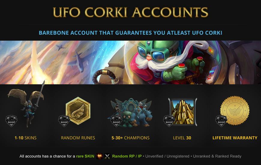 UFO Corki Accounts