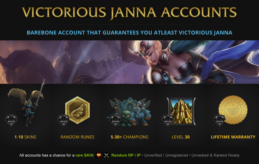 Victorious Janna Accounts for League of Legends