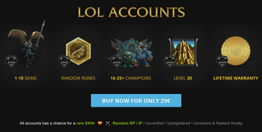 LoL Account, Lol Accounts, Buy LoL Account, League of legends account, lol account