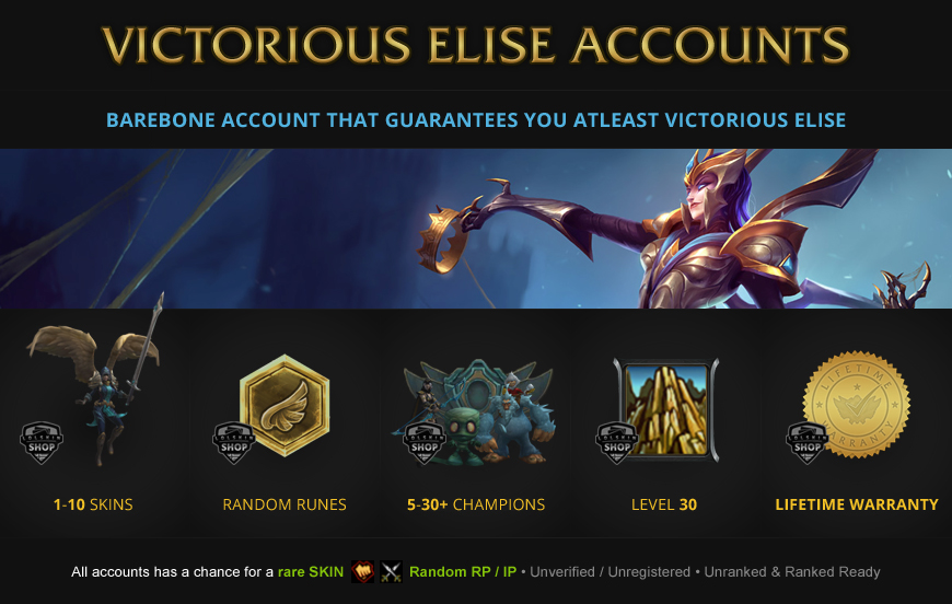 Victorious Elise Accounts for League of Legends