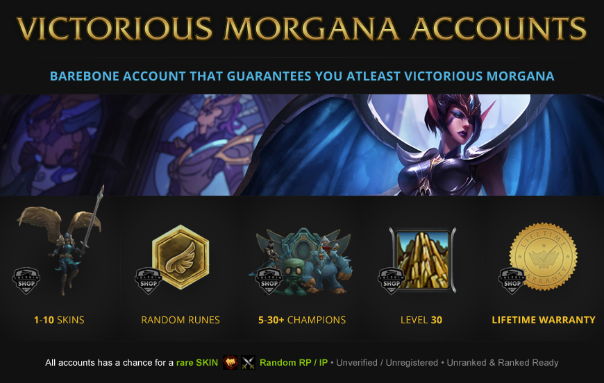 Victorious Morgana Accounts League of Legends