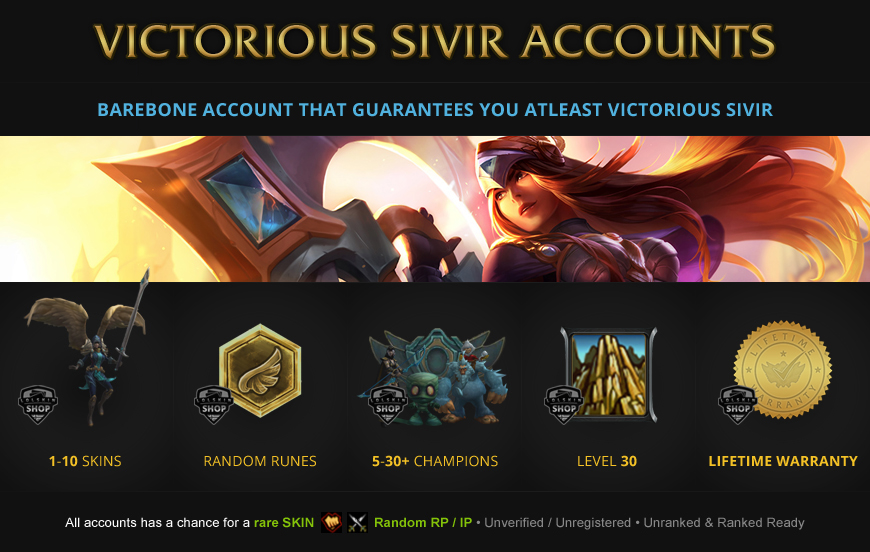 Victorious Sivir Accounts for League of Legends
