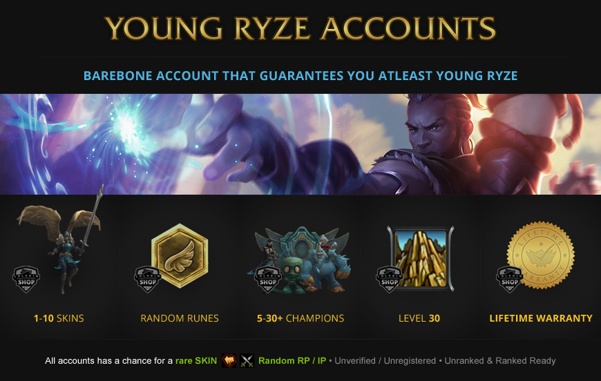 Young Ryze Accounts for League of Legends