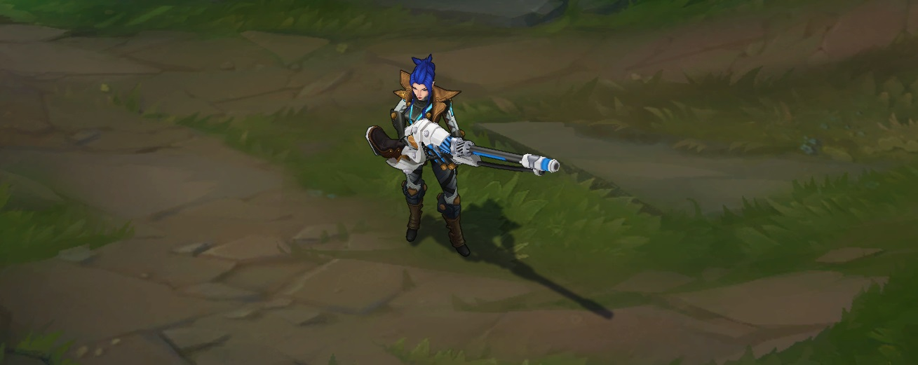 pulsefire caitlyn skin for league of legends ingame picture